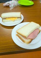 神代団地のおやつ作りはサンドイッチでした