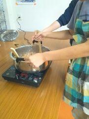 お昼はカレーを作りました